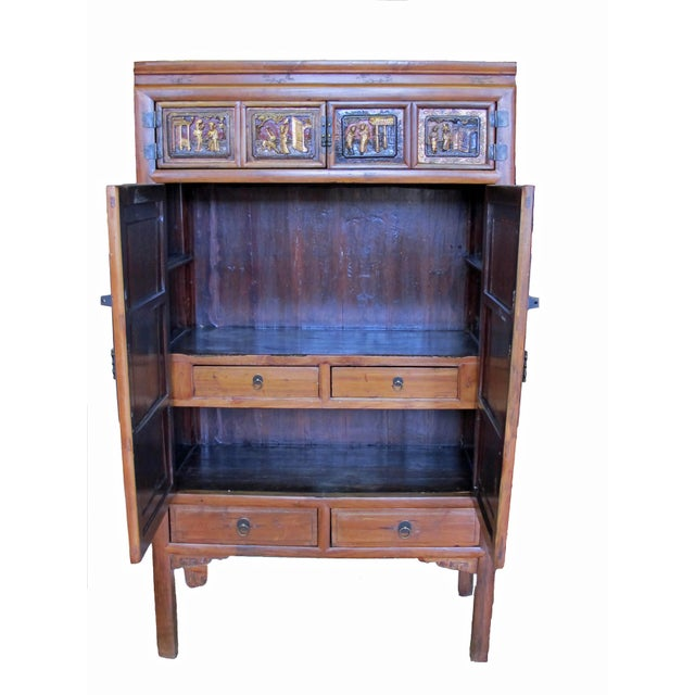 Crane & Phoenix Motif Cabinet For Sale - Image 4 of 10