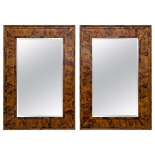 Maitland-Smith Statement 58x40 Coconut Shell Wall Mirrors - a Pair For Sale