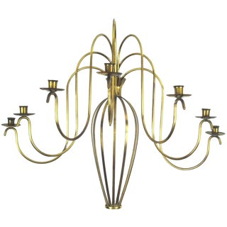 Classic and Elegant Brass Wall Sconce For Sale