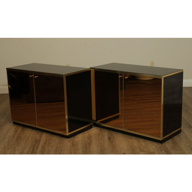1970s Contemporary Mirrored Door Cabinets - a Pair For Sale - Image 5 of 13