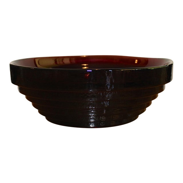 Vintage Blenko Amethyst Serving / Decorative Bowl For Sale
