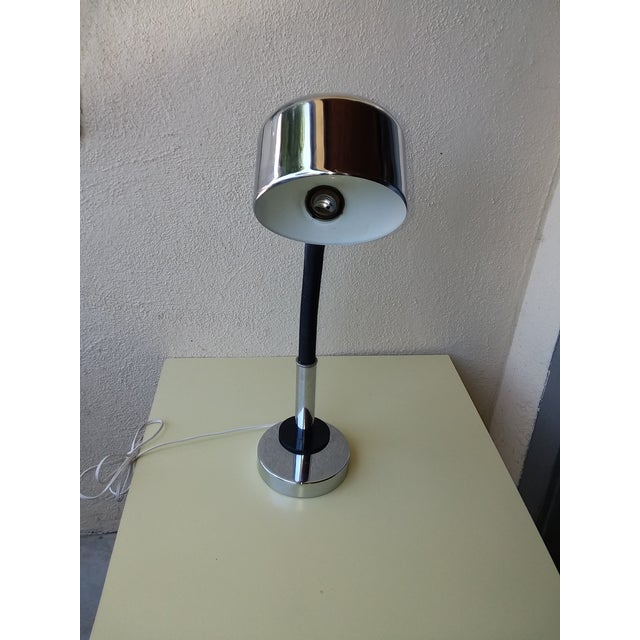 1970's Space Age Chrome Desk Lamp For Sale - Image 4 of 8
