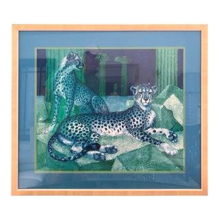 1969 Cheetah Print Gerard Dac Ny, Framed For Sale