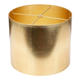 Round Gold Foil Lamp Shade For Sale