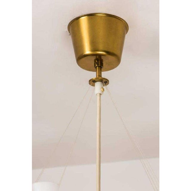 Glass Swedish Mid-Century Modern 6-Arm Chandelier For Sale - Image 7 of 8