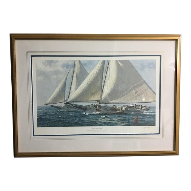 """Racing for the Oysters"" Nautical Print - Image 1 of 5"