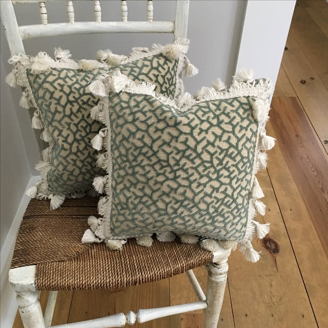 Transitional Fringed Pillows - Pair - Image 6 of 6