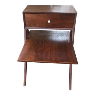 1950s Mid Century Kipp Stewart for Drexel Floating Walnut End Table For Sale