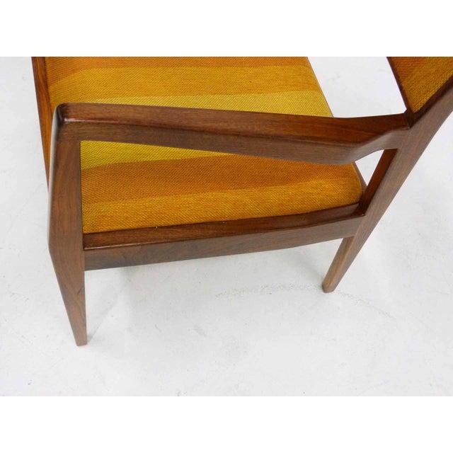 "Jens Risom Oiled Walnut ""Playboy"" Arm Chair - Image 9 of 10"