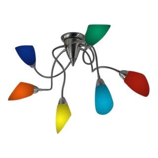 Italian Polipo Ceiling Light Design by Oriano Favaretto for De Majo