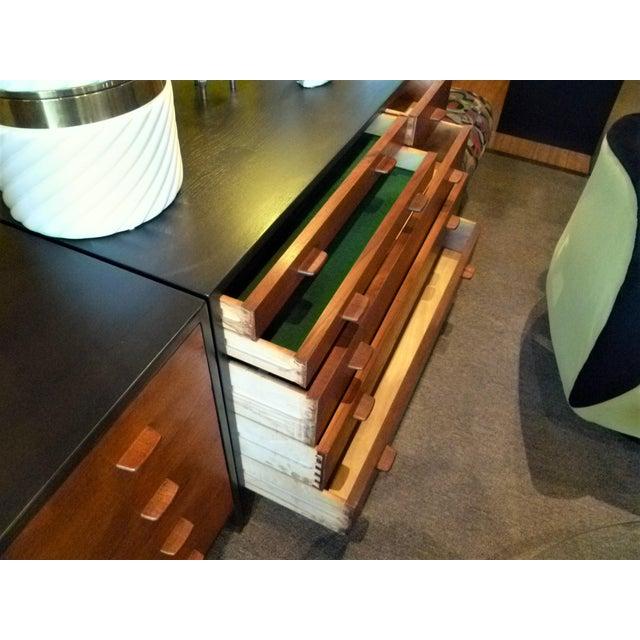 Felt Hans Wegner Ebonized Oak Teak Dresser Ry Mobler - 1950s For Sale - Image 7 of 13