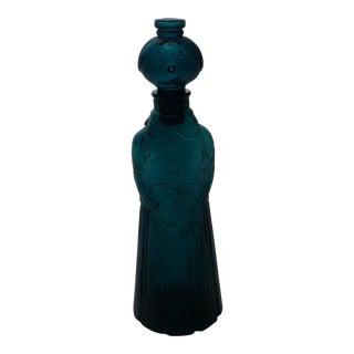 Empoli Italian Mid Century Glass Genie Decanter
