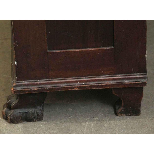 Blue 20th Century Traditional Mahogany Claw Foot Breakfront Bookcase With Glass Doors For Sale - Image 8 of 11