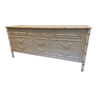 1960's Thomasville Allegro Collection Bamboo Dresser For Sale