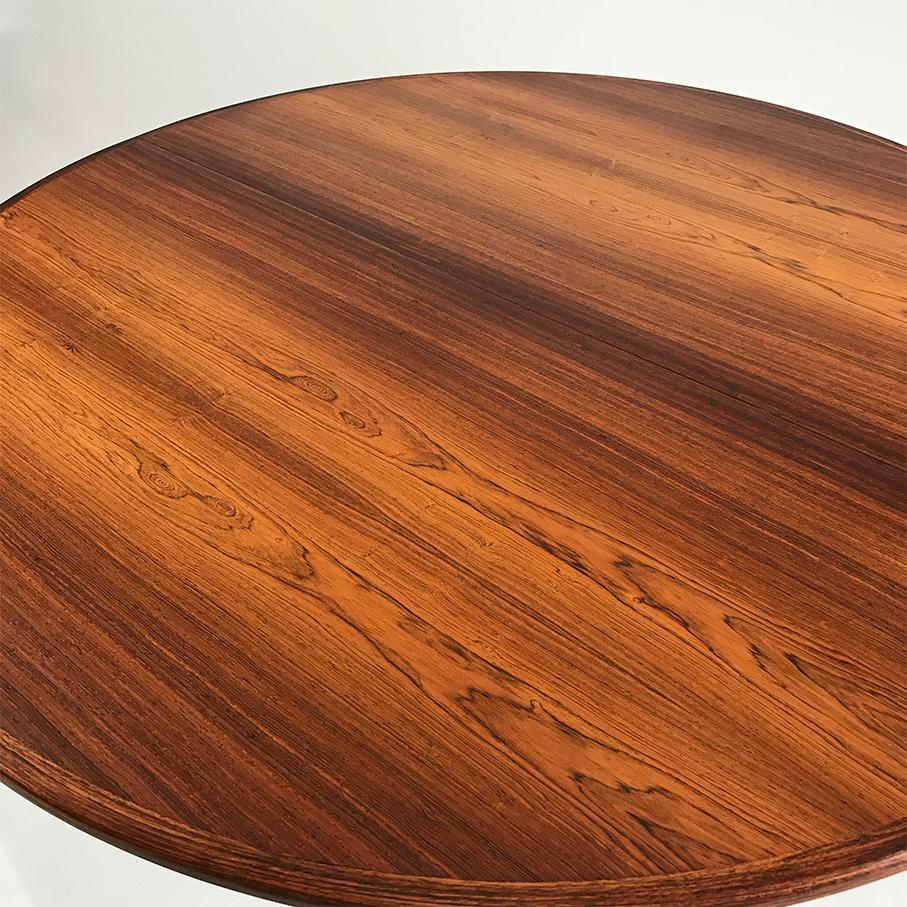 Vintage Danish Rosewood Round Dining Table   Image 2 Of 6
