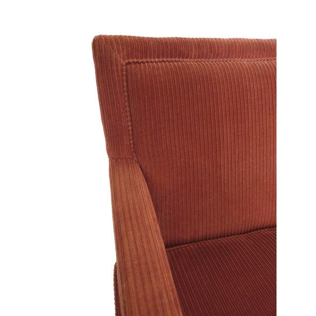 1970s Milo Baughman-Style Corduroy Armchair - Pair For Sale - Image 7 of 10