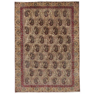 "Qum Persian Rug, 7'3"" x 10'10"" feet"