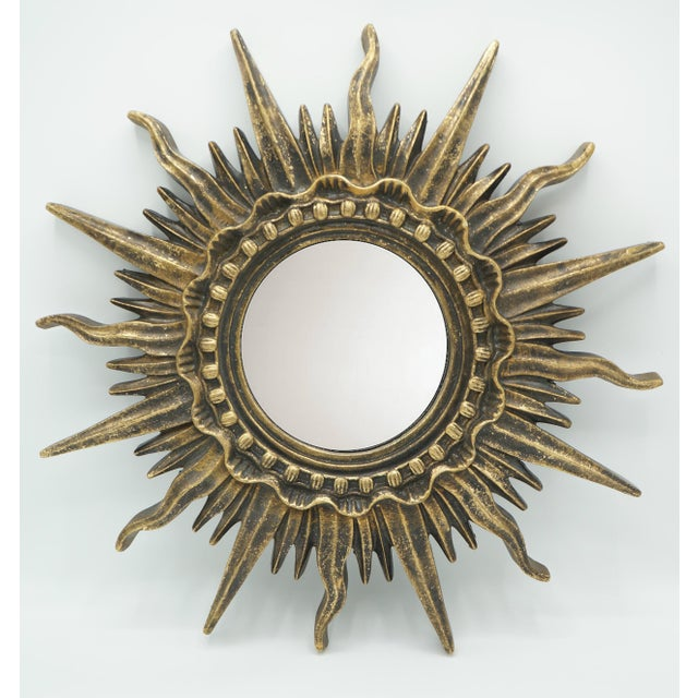 French Golden Gilt Sunburst Mirror For Sale - Image 12 of 12
