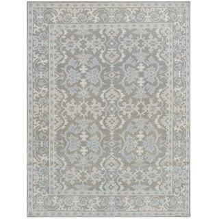 Transitional Mansour Quality Handwoven Wool Rug - 8' X 10' For Sale