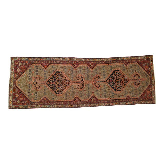 "1900's Leon Banilivi Antique N.West Persian Rug, 3'7"" X 10'6"" For Sale"