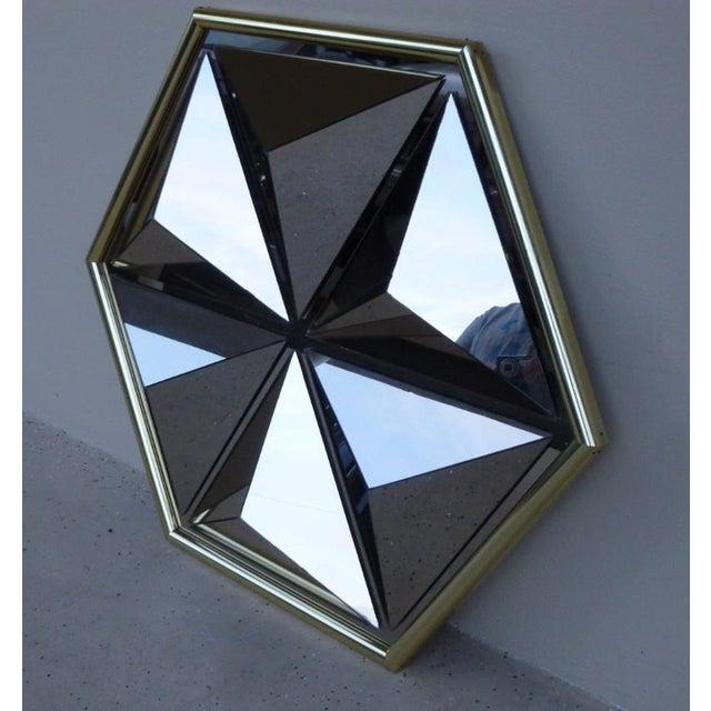 Mid-Century Modern 1970s Mid Century Modern Pyramid Mirror For Sale - Image 3 of 6