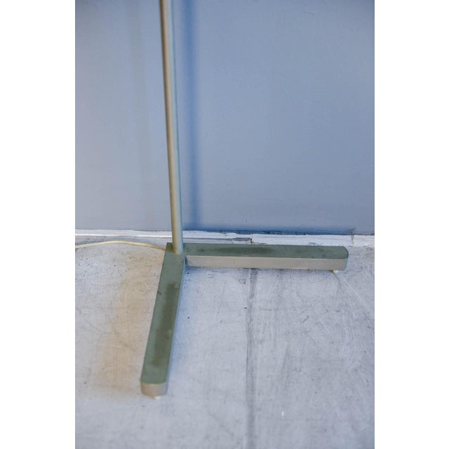 Silver 1970s Casella Brushed Nickel Adjustable Dimmable Floor Lamps - a Pair For Sale - Image 8 of 9