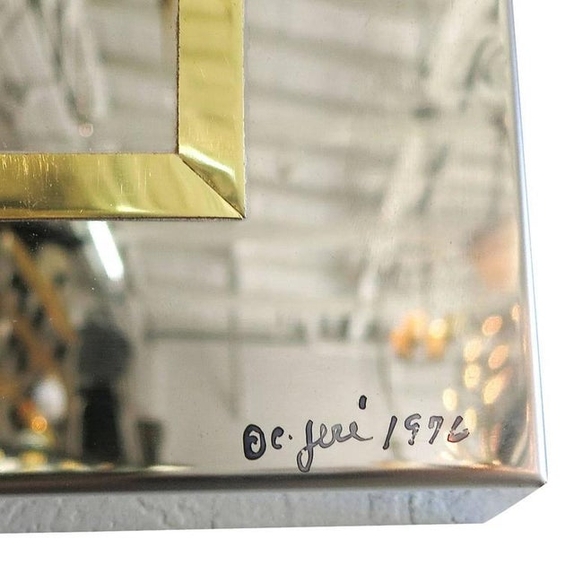 Curtis Jere Mirror in Brass and Chrome Port Hole Frame by C. Jeré - 50th Anniversary Sale For Sale - Image 4 of 4