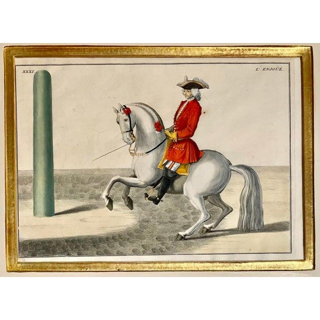 Folk Art Four Engravings of Horse Riders Le Soldat, Le Grand, Le Diligent, L' Enjoue For Sale - Image 3 of 12