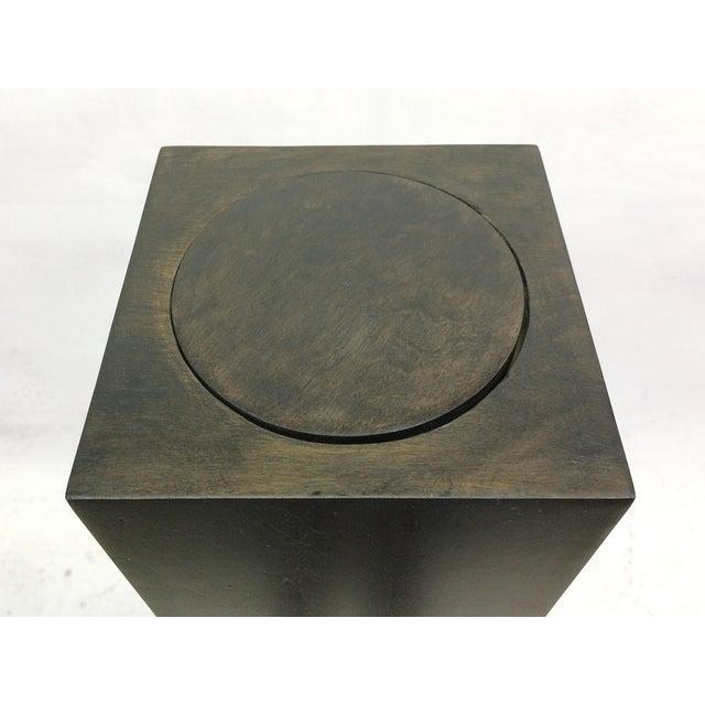 Ebony Stain Swivel Top Pedestal - Image 5 of 5