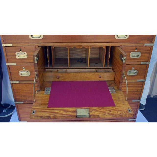Late 19th Century Antique British Officers Campaign Chest For Sale - Image 4 of 8