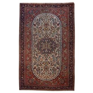 "19th Century Saruk Farahan Carpet - 10' x 6'9"" For Sale"