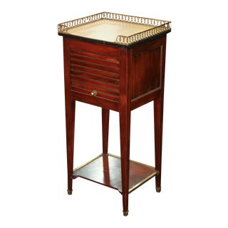 French Transitional Marble Top Stand