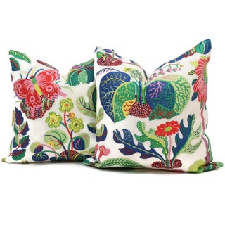 "20"" x 20"" Decorative Pillow Cover Exotic Butterfly in Spring Preview"