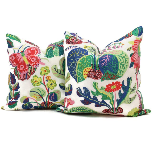 Add a pop of color to your with this colorful pillow cover. Schumacher recently updated this josef frank pattern with a...