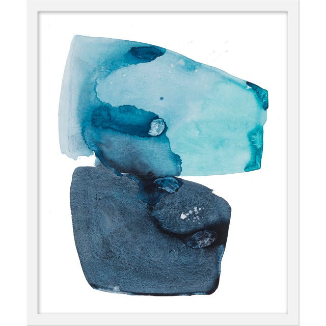 """Contemporary Medium """"Watercolor Study Artic Ocean"""" Print by Kate Roebuck, 20"""" X 24"""" For Sale - Image 3 of 3"""