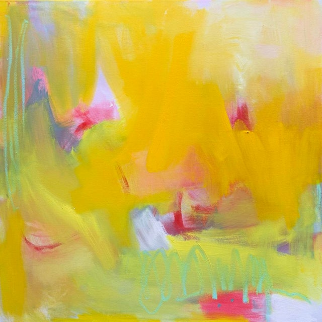 "Abstract ""Up and Away"" by Trixie Pitts Large Abstract Diptych Oil Painting For Sale - Image 3 of 13"