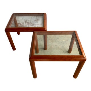 Mid Century D-Scan Tables - a Pair For Sale