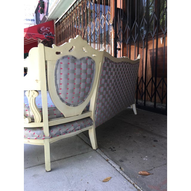 Vintage Shabby Chic Style Sofa For Sale - Image 12 of 13