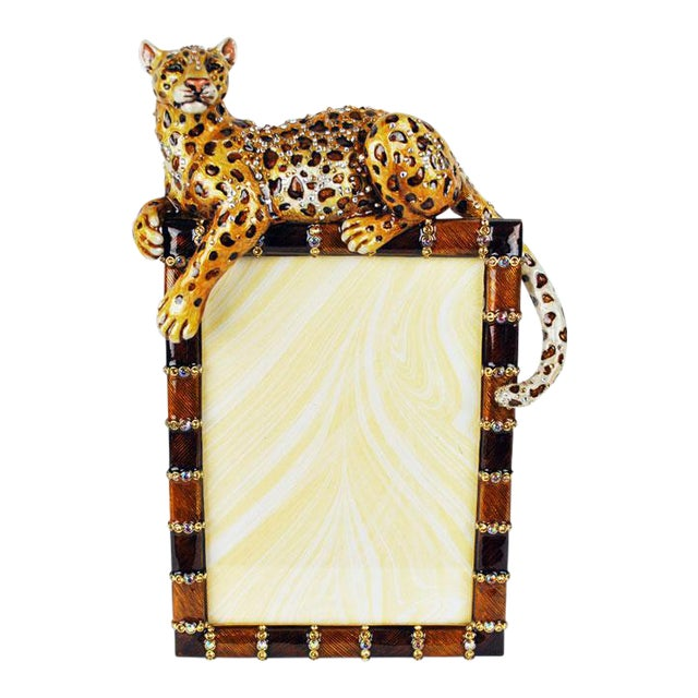 Jay Strongwater Jeweled Leopard Picture Frame   Chairish