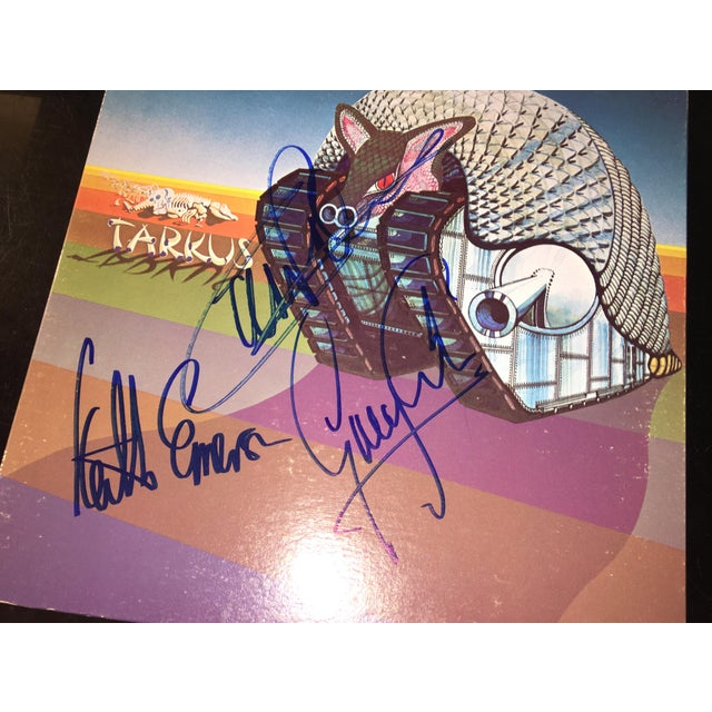 1990s Emerson,Lake and Palmer 'Tarkus' Autographed Album Cover For Sale - Image 5 of 9