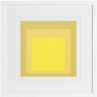 Josef Albers - Portfolio 2, Folder 24, Image 2 Framed Silkscreen For Sale