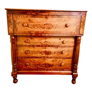 Mid 19th Century American Empire Mahogany Butler's Desk For Sale