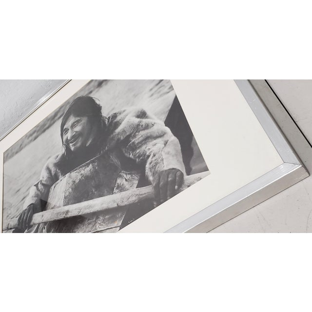 "1960s Vintage ""Eskimo"" Framed Photograph by the Education Development Center C.1967 For Sale - Image 5 of 8"