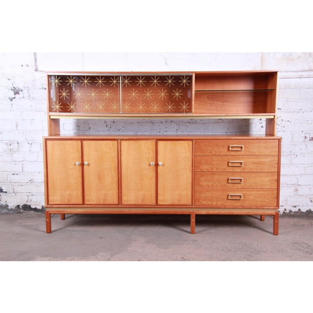 Kipp Stewart for Drexel Sun Coast Cherry Wood Sideboard Credenza, 1959 For Sale - Image 13 of 13