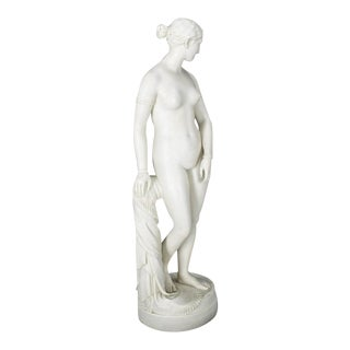 19th Century Antique Porcelain Nude Woman Figurine For Sale