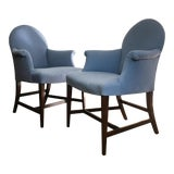 Image of Vintage Saybolt Cleland Upholstered Armchairs - a Pair For Sale