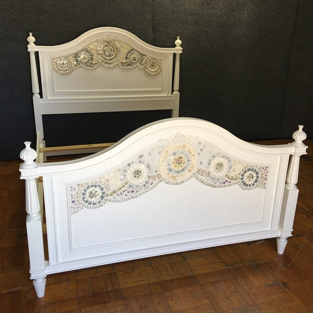 Stanley Furniture Queen Bed with Mosaic Tiling - Image 2 of 9