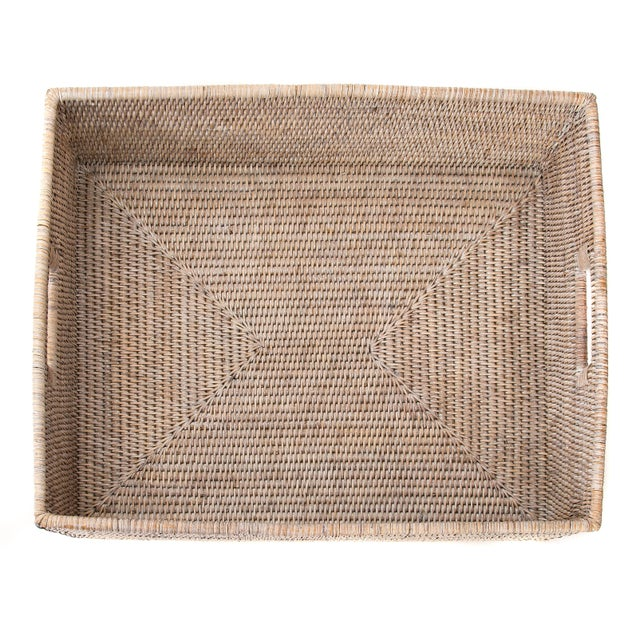 "Artifacts Rattan Rectangular Basket 20""x16""x6"" For Sale - Image 4 of 6"