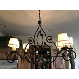 Currey & Company Hand Forged Iron Kitchen Island or Billiards Table Light Fixture Preview