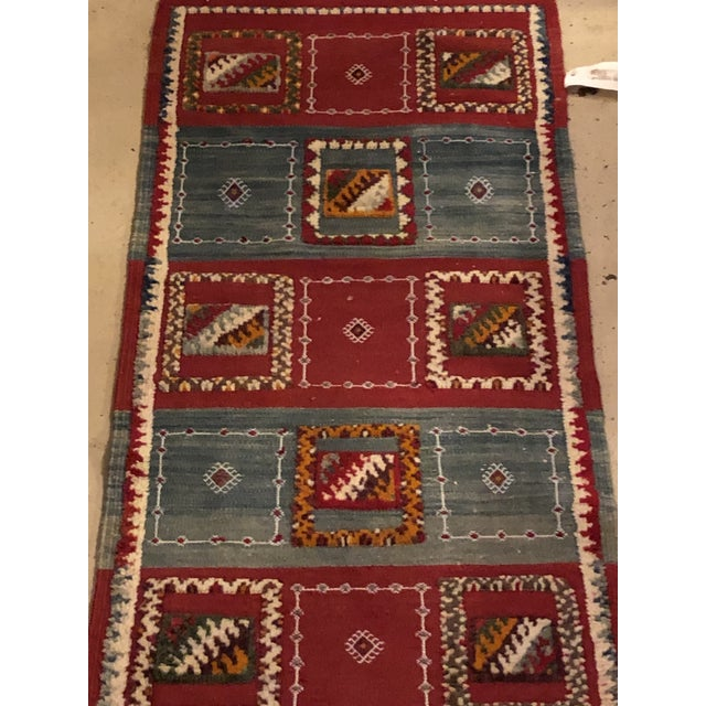 """2010s Berber Abstract and Geometric Rug-3'x6'2"""" For Sale - Image 5 of 6"""